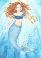 Merida as a mermaid by Xijalle