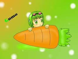 Gumo and his carrot 8D by linkinounet62