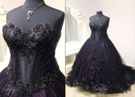 Gothic Masquerade Bridal Gown by Firefly-Path