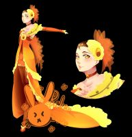 Songstress of Yellow Roses - Design by rika-dono