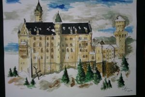 Neuschwanstein Castle, Germany by TooDrunkToNotice