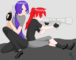 Girls With Guns by Ilovedrawin