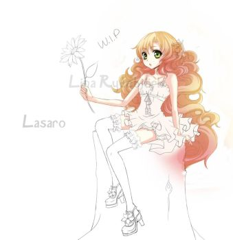 a flower to my friend  wip by Lasaro