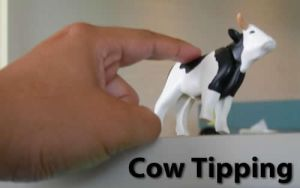 Cow Tipping by CassidyLovesArt