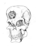 Skull with Pentagram by The-Epic-Pencil