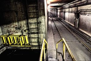 Pape Subway Tunnel by basseca