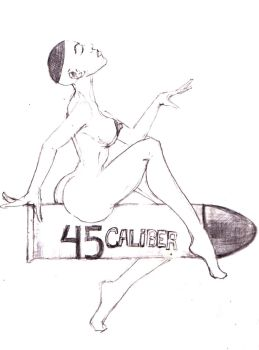 45 Caliber Tattoo drawing by kengriffin