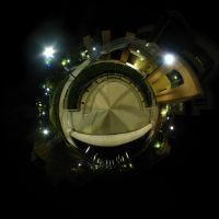 Mini Planet - Campus At Night by electricjonny