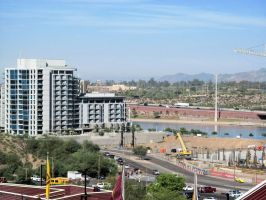 Tempe Town Lake from Sun Devil Stadium by BigMac1212