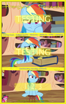 MLP : Testing Testing 1, 2, 3 - Movie Poster by pims1978