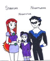 (Teen Titans) Grayson Family by gurl-luvs-sooshi