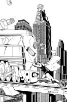 superman Vs Train by simonmichel00