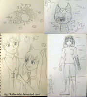 Doodle Dumps 5 Spice and Wolf by Kafae-Latte