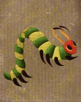 Introspection 1994-1995 Caterpillar makes holes by Tzenor
