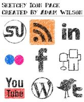Sketchy Icons - Social Network by Awilson089