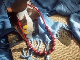 Red Millefiori Necklace by ChrisOnly