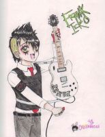 Frank Iero with PANSY by chibiusa1001