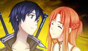 Kirito And Asuna by Master-Majidosse