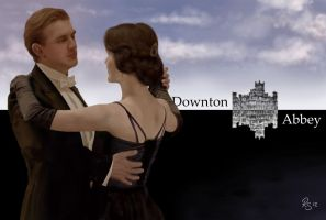 Matthew and Mary from Downton Abbey by remelis