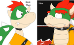 My Art Style: Then and Now- Bowser by Karasu-96