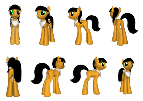 Gift for CmdrNIX - 3D Kitty Katswell in pony form by Magic-Kristina-KW