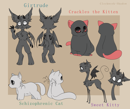 Pets Reference Sheet by Clockwork-Shadow