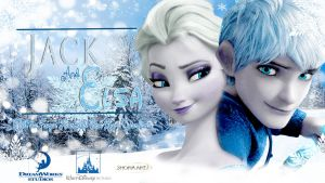 Jelsa : Jack Frost and Elsa wallpaper by Shofia-kim13