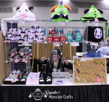 Vancouver Fan Expo 2015 Artist Alley Booth by CupCakeMonsterCrafts