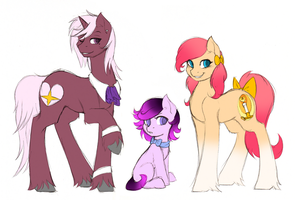 The Rich Kids- Ardor Flare, Heart Light, and Aroma by FuyusFox