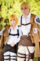 Armin Arlelt and Commander Erwin Smith by Animaidens
