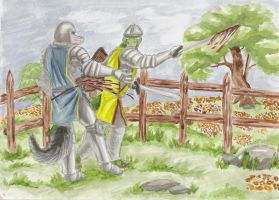 A knights final duel by SteinWill