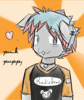 punk puppy by kitten-boy