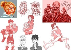 Snk Sketches(Possible Spoilers) by Redundantthoughts