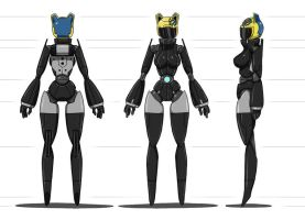 Android Celty Character Design by point23