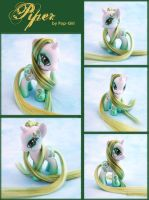 Custom G4 Pony  - Piper - by pop-girl