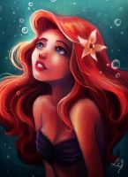 Ariel with hope by Ludmila-Cera-Foce