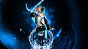 Yuu Cosplay (Water Wallpaper) by Hardii