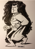 Superman study in india ink by thecheckeredman