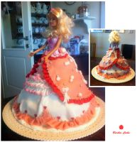 Barbie cake by hotabairo