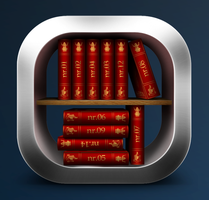 Dark Blue Libraries by jSerlinArt