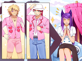 eE: Men in pink by MizumiHisui