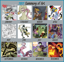 2012 with Mog by blinkpen