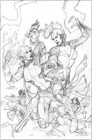 X-Men #5 Variant Cover Pencil by TerryDodson