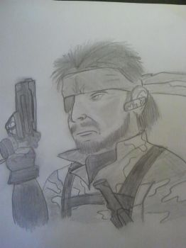 solid snake by alphawolf18