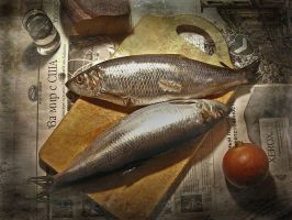 Still life with two herrings by kopalov
