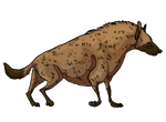 Week 1.1. Spotted hyena by Moldovorot