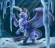 Obiq and the Ice Caves by SilverFlight