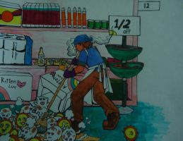 Cleanup on Aisle 12 by melaphyre