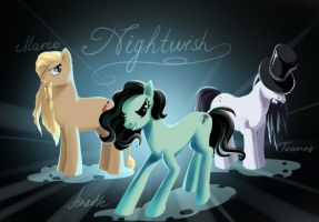 The Imagineers ponies.Nightwish by fantazyme