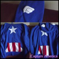 Captain America - Freedom Hoodie by Dinorawrchuu